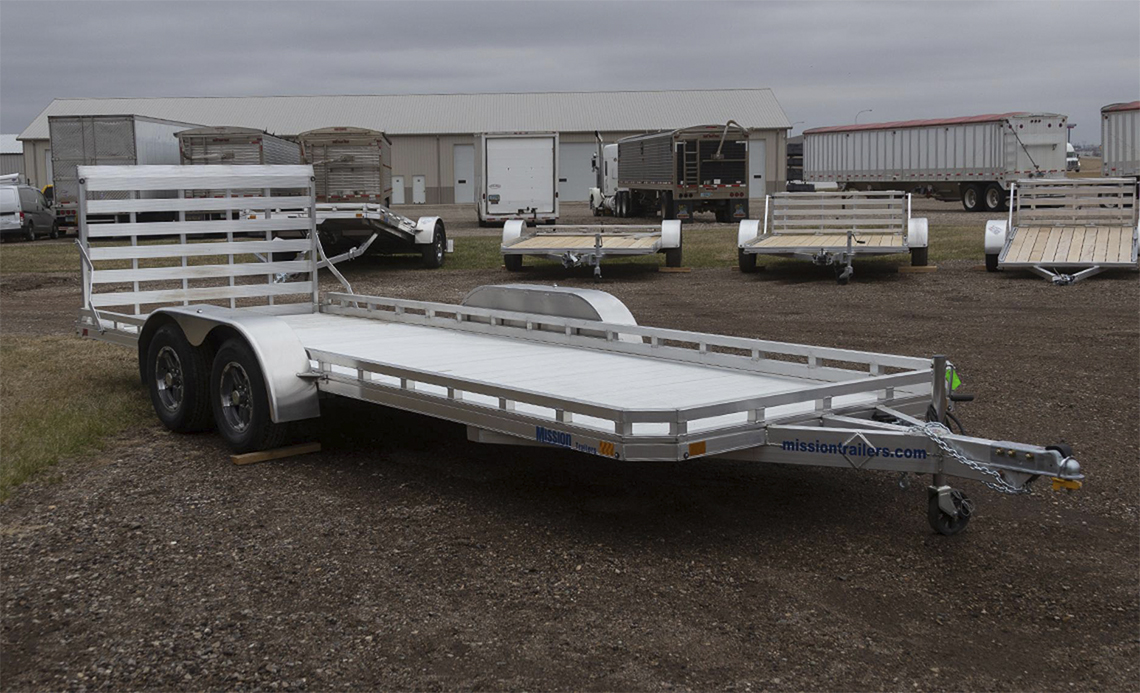 Mission 6.5 x 20 Aluminum Utility Trailers 2